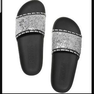 PINK Victoria's Secret | Silver Bling Sequin Slide
